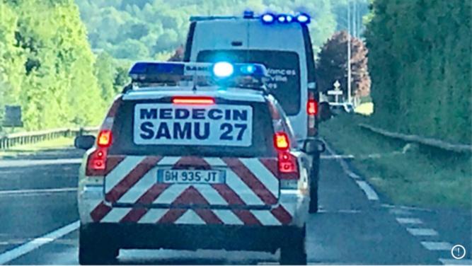 Eure : une jeune femme blessée grièvement dans un accident de la route près d'Évreux