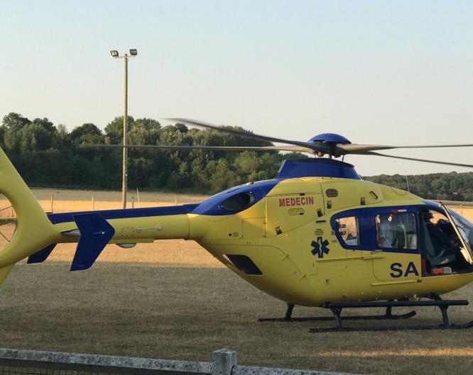 Le blessé a été pris en charge à bord de l'hélicoptère du SAMU 76 - illustration @ infonormandie