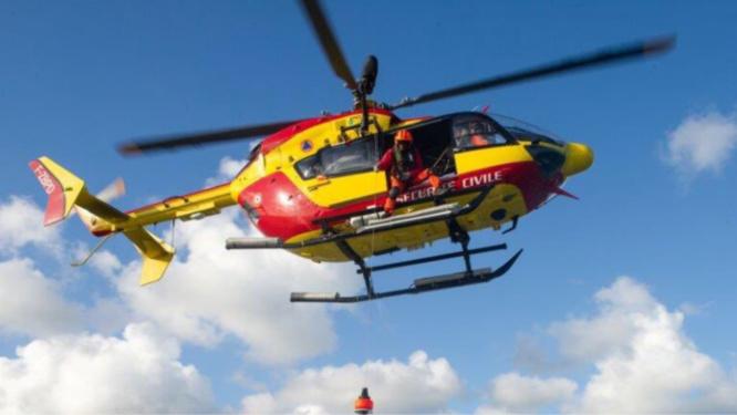 La gravité des brûlures a nécessité le transport par hélicoptère de la victime qui a été conduite dans un hôpital pour les grans brûlés, à Clamart (Hauts-de-Seine) - Illustration