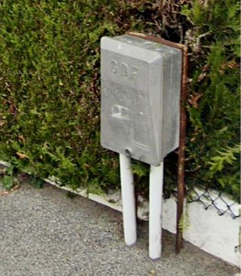 La conduite d'arrivée de gaz s'est déboîtée sur le compteur situé sur la voie publique - Illustration