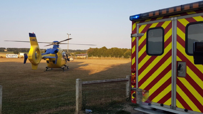 La victime a été transportée, médicalisée, par l'hélicoptère Viking du SAMU76 - illustration @ infonormandie