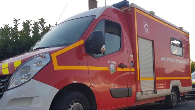 Blessé, le conducteur de l'utilitaire a été pris en charge par les sapeurs-pompiers - Illustration @ Infonormandie
