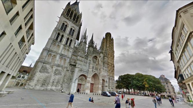 Le jeune couple a été agressé solace de la cathédrale - illustration @ Google Maps