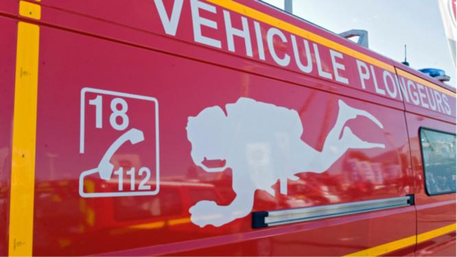 Les recherches effectuées par les plongeurs des sapeurs-pompiers n'ont pas permis de retrouver le corps - Illustration @ infonormandie
