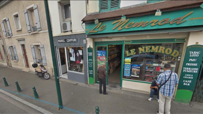 Les braqueurs du bar-tabac Le Nemrod sont repartis bredouilles - Illustration @ Google Maps