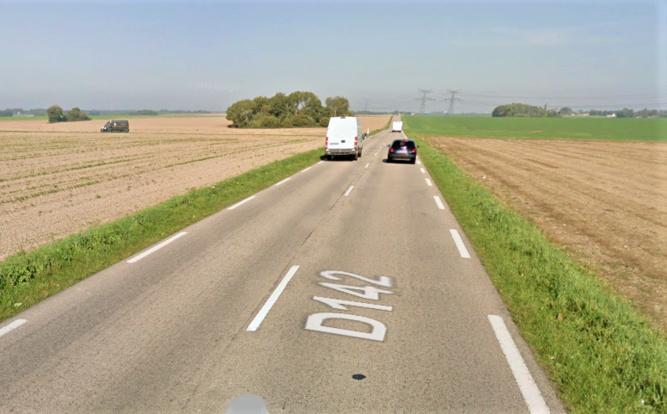 L'accident s'est produit sur cette route de campagne dans des circonstances qui restent à établir - illustration © Google Maps