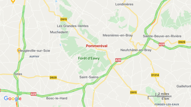 Seine-Maritime : un homme intoxiqué dans l'incendie d'une maison à Pommeréval