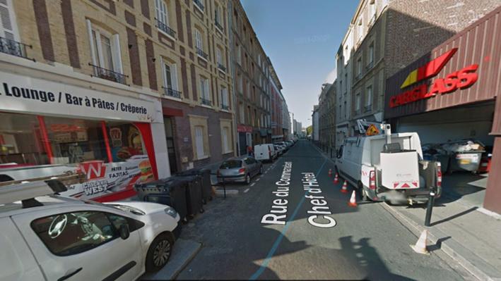 L'un des blessés, touché à la hanche et dont le pronostic vital est engagé, a été découvert rue du commandant Che d'Hôtel, près de l'université du Havre - illustration @ Google Maps
