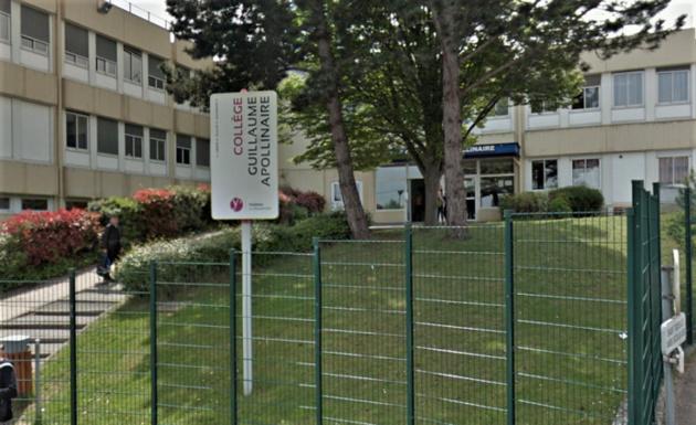 Le collège Guillaume Apollinaire à Plaisir - illustration © Google Maps