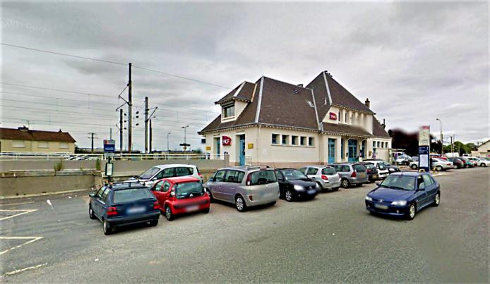 La gare de Bréauté Beuzeville sur la ligne Le Havre - Rouen - illustration © Google Maps