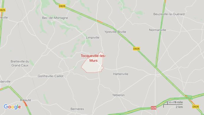 Seine-Maritime : trois blessés dans un accident impliquant deux voitures à Tocqueville-les-Murs