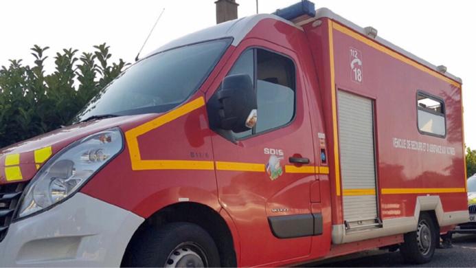 Le conducteur a été transporté en urgence relative à l'hôpital de Vernon - Illustration