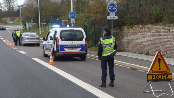 110 conducteurs ont été sensibilisés lors de l'opération mise en place à Bois-Guillaume - Photo @ DDSP76