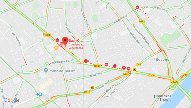 Le boulevard Henri-Barbusse est toujours coupée à la circulation ce mardi matin
