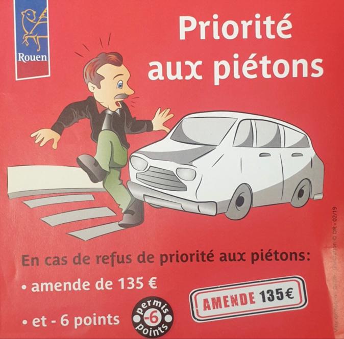 Priorité aux piétons : les conducteurs sensibilisés par la police à Rouen
