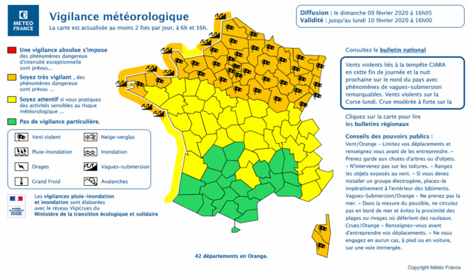 Tempête Ciara en Normandie : des trains supprimés, les sapeurs-pompiers sur le qui-vive