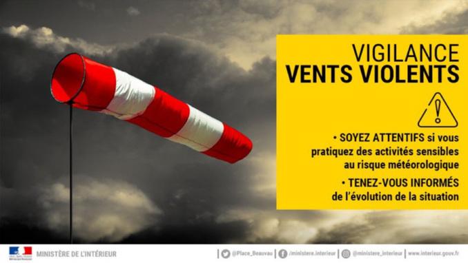 Risque de vents violents en Seine-Maritime, placé en vigilance jaune à compter de demain