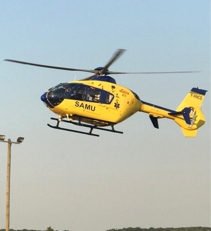La gravité des blessures d'une des victimes a nécessité son évacuation par hélicoptère - illustration @ infoNormandie