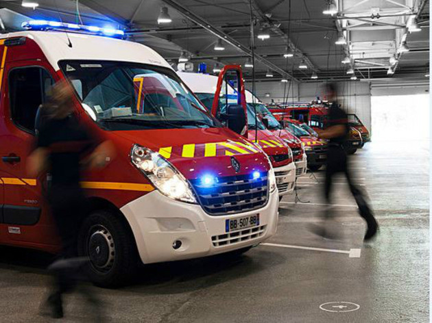 Plusieurs centres d'incendie et de secours de la région de Blangy-sur-Bresle, soit une trentaine de pompiers et neuf engins, ont été appelés à intervenir - Illustration