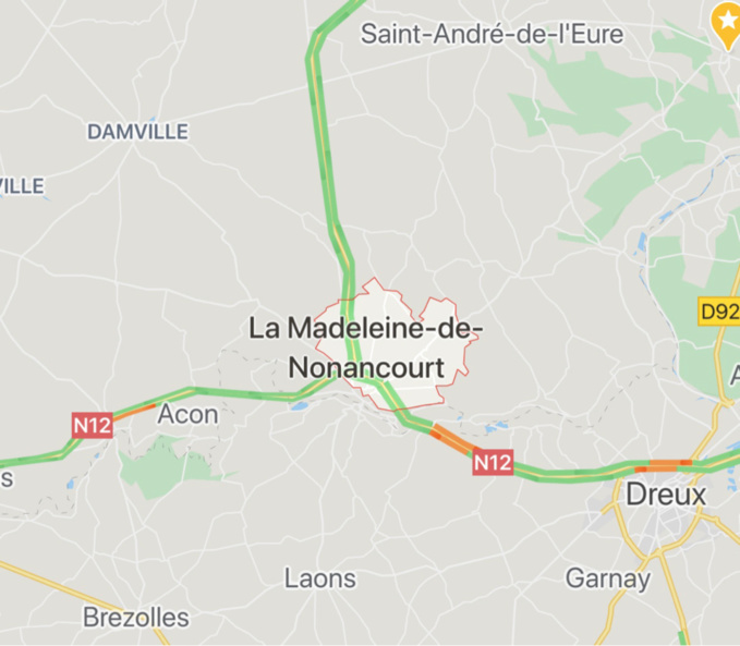 Eure : trois blessés dans un accident entre trois poids lourds à La Madeleine-de-Nonancourt