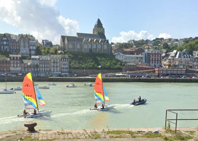 Le port du Tréport - illustration @ Google Maps