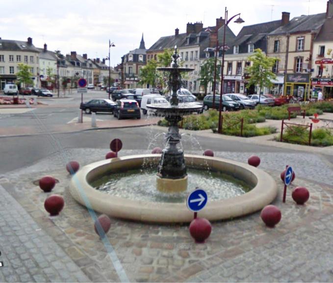 Le centre ville de Breteuil