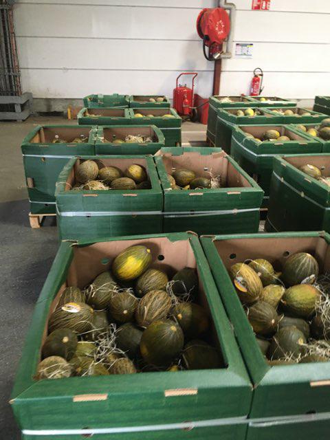 Les 19 tonnes de marchandises, dont des melons et pastèques ont été saisies et offertes à des associations caritatives
