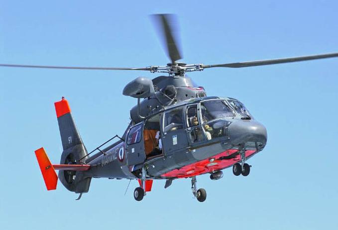 Un hélicoptère de la Marine nationale a survolé la zone où l'enfant a disparu - Illustration @ Marine nationale