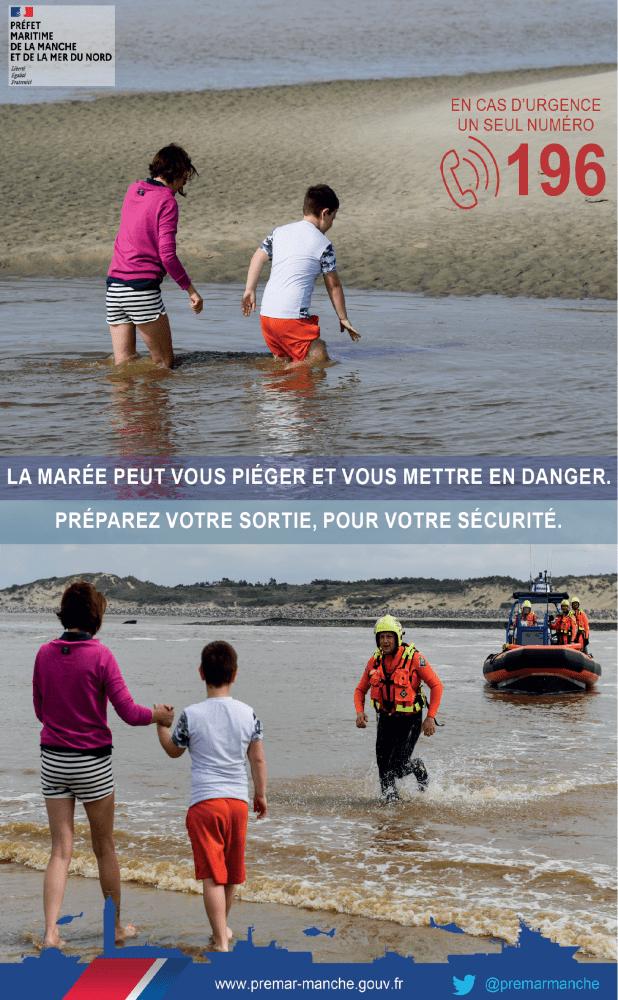 Seine-Maritime : isolés par la marée deux pêcheurs à pied récupérés par Dragon 76 au Trou à l'homme