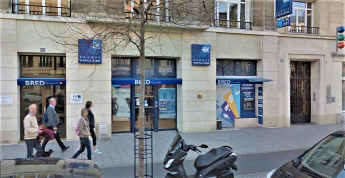 L'agence de la Bred est située dans le centre ville du Havre. Le secteur est bouclé par les forces de l'ordre depuis 17 heures  - Illustration