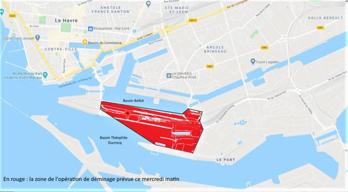 L'avenue Lucien Corbeaux ainsi que le quai Joannès-Couvert sont interdits d'accès durant toute l'opération de déminage