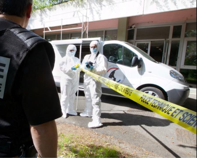 Des constatations de police technique et scientifique ont été pratiquées sur le lieu de la découverte du corps - Illustration © DGPN