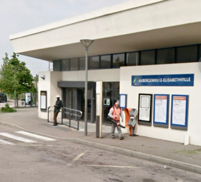 La gare d'Aubergenville, dans le quartier d'Élisabethville - illustration @ Google Maps