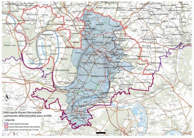 33 communes de la métropole de Rouen sont concernées par le couvre-feu