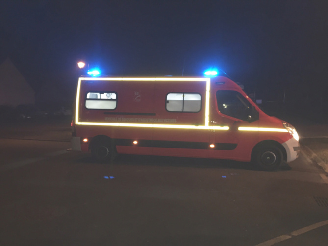 La victime a été transportée à l'hôpital d'Abbeville par une ambulance des sapeurs-pompiers - illustration @ infoNormandie
