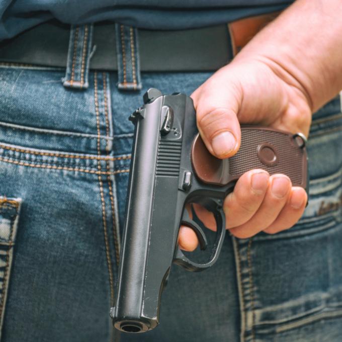 Les agresseurs étaient armés d'une arme de poing, selon les déclarations de la victime - illustration