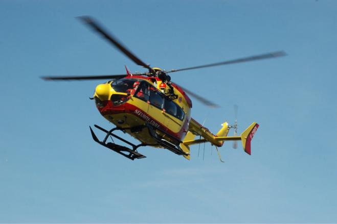 La victime a été héliportée par Deagon76 au CHU de Rouen - Illustration @ Adobe