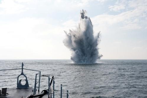 Chasse aux engins explosifs en baie de Somme