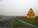 Série d'accidents à cause du verglas en Haute-Normandie