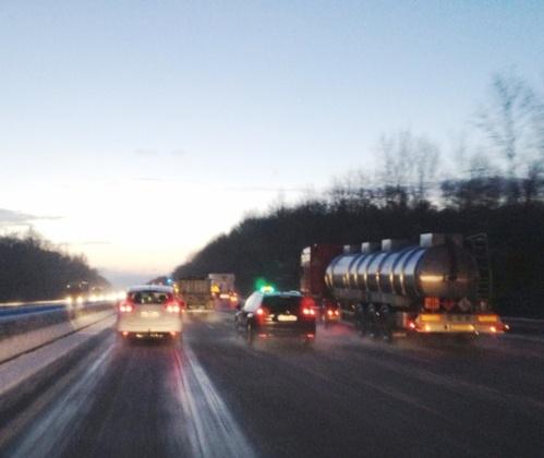 Neige, verglas, accidents : la situation en Haute-Normandie au fil des heures