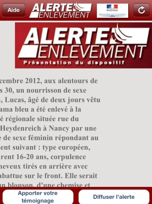 Lucas, le bébé kidnappé à Nancy, a été retrouvé sain et sauf : la ravisseuse en garde à vue