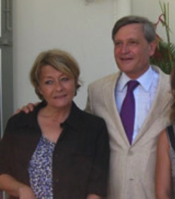 Gaëlle Reverdy ici avec Pierre-Henry Maccioni en 2010 à la préfecture de la Réunion