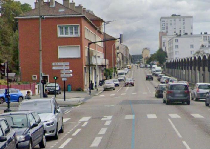 L'accident s'est produit rue de Verdun, à hauteur de l'intersection avec la rue de l'Abbaye - illustration