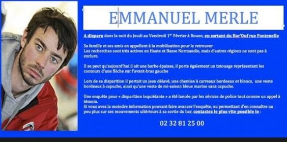 Audran Merle, le frère d'Emmanuel, continue de mobiliser les internautes sur les réseaux sociaux en diffusant le signalement de son frère disparu