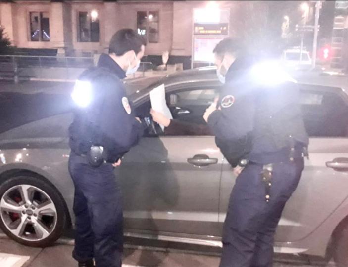 A Rouen, Le Havre et Dieppe, 39 infractions pour non-respect du couvre-feu ont été relevées par la police nationale entre 20h et 1h du matin - Photo @ DDSP76