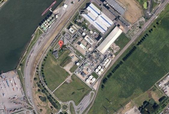 Les installations de Saipol sont en bord de Seine, boulevard Maritime à Grand-Couronne (Capture d'écran Google Maps)