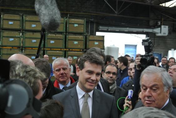 Toutes les photos de la visite d'Arnaud Montebourg chez Sealynx dans l'Eure