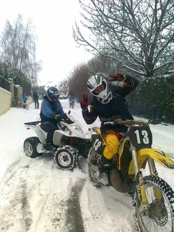 La neige fait aussi des heureux... (Photo Infonormandie.com)
