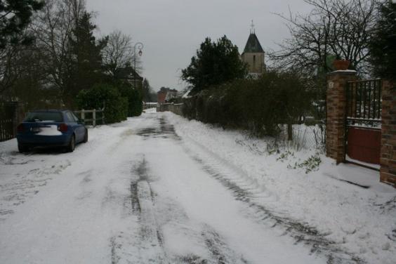 Certaines routes secondaires sont impraticables dans l'Eure. Photo prise à Vatteville (Photo Infonormandie.com)