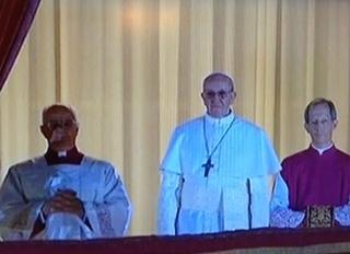 Le nouveau pape, François 1er (Capture d'écran Canal+)